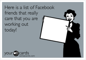 Facebook and working out